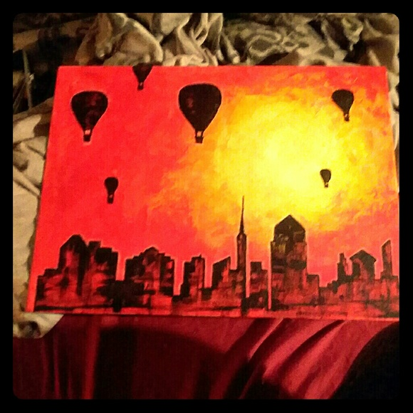 "original art By: Sammie Nicole Porter Other - ""Above a shadow city"" An Origianl Painting"
